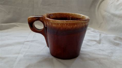 Transpac vm express zwilling j.a. 4 ANTIQUE VINTAGE HULL POTTERY BROWN DRIP COFFEE MUGS CUPS ...