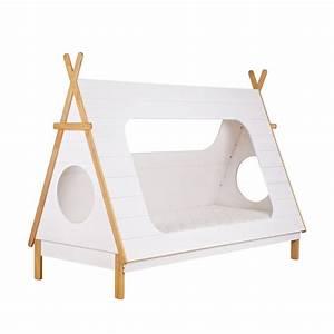 Lit Tipi Enfant : cadre de lit enfant bois avec sommier tipi drawer ~ Teatrodelosmanantiales.com Idées de Décoration
