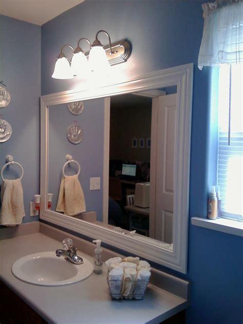 thrifty house framed bathroom mirror
