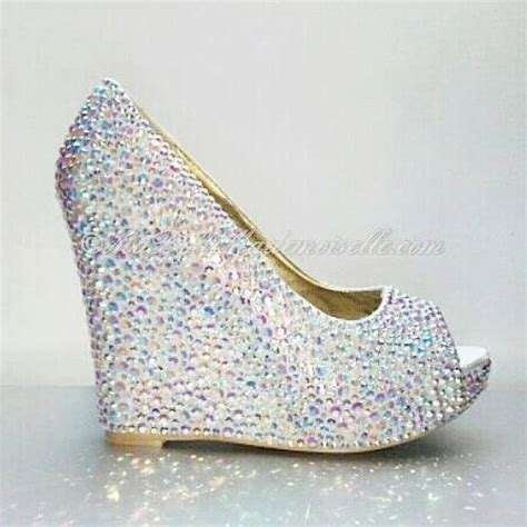 wedge shoes for wedding white wedding shoes rhinestone wedge 1236