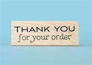 Thank You Your Order