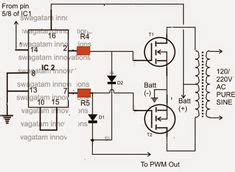 the explains a simple 3kva modified sine wave inverter circuit which is pwm controlled