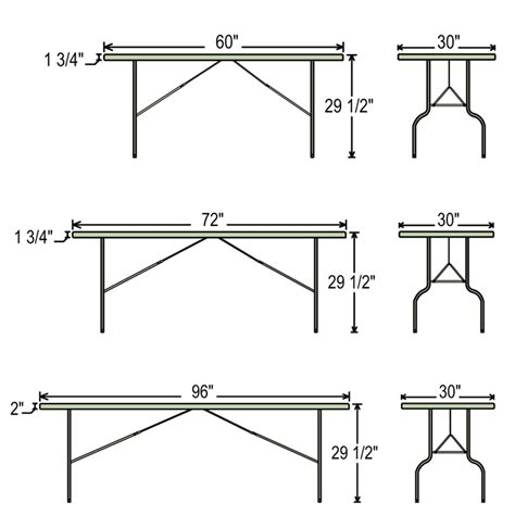 standard folding table size fresh standard folding table size correll standard height leg