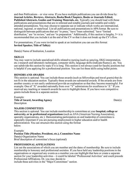 Curriculum Vitae Template For Nurses by Curriculum Vitae Curriculum Vitae Template
