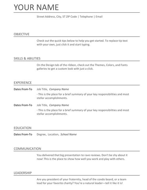 Word Resume by Resumes And Cover Letters Office