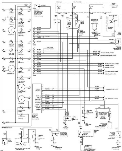 94 Ford Contour Fuse Diagram by 1997 Ford Contour Instrument Cluster Circuit Diagram All