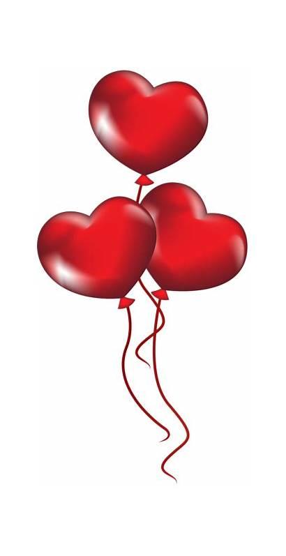 Balloons Balloon Heart Clipart Clip Transparent Valentine