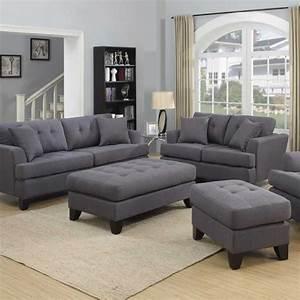Gray Sofa Set Homelegance Ashmont Sofa Set Dark Grey Linen