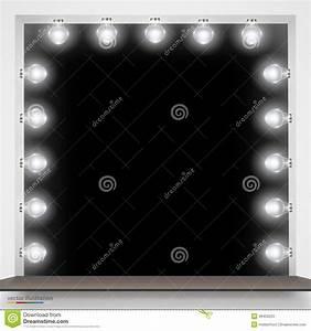 Miroir Avec Lumière Pour Maquillage : miroir avec des ampoules pour le maquillage illustration ~ Zukunftsfamilie.com Idées de Décoration