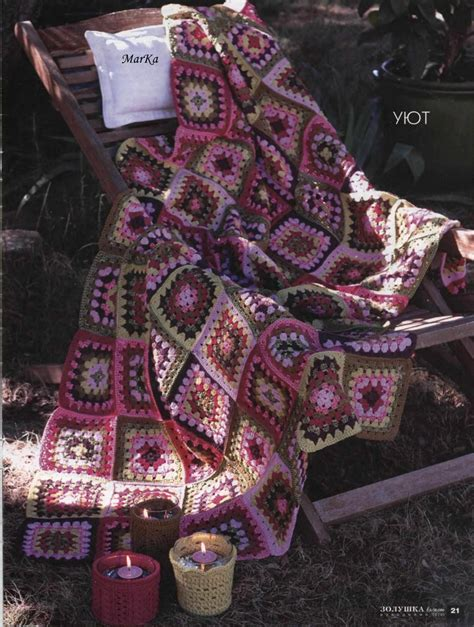 granny square blanket  green  pink crochet kingdom