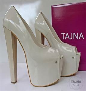 20 Cm High Heels : tajna club cream patent platform 20 cm high heel pump shoes ~ Lateststills.com Haus und Dekorationen