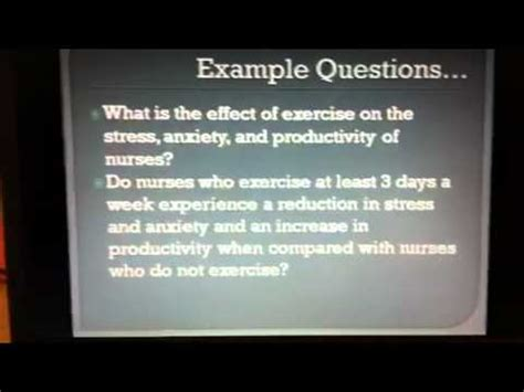 Examples Of Nursing Research Problem Statements Michelle Obama