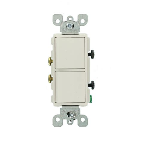 single pole switch leviton decora 15 amp single pole dual switch white r62 05634 0ws the home depot