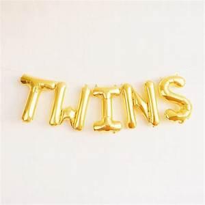 twins balloons gold mylar foil letter balloon banner kit With gold letter banner kit