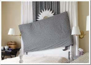 inexpensive chair covers easy sew reversible padded headboard cover in my own style