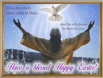 Easter Religious Happy Card Celebration Friends He