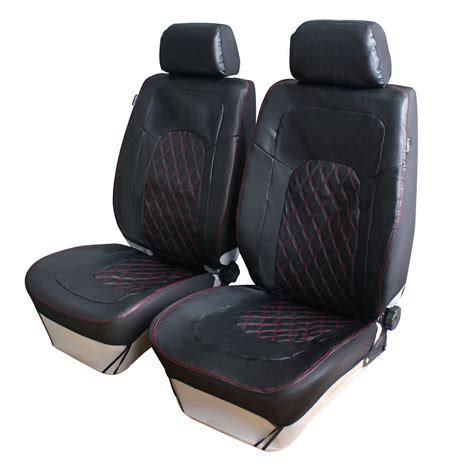 Breathable Pu Leather Front Car Seat Covers Universal Fit