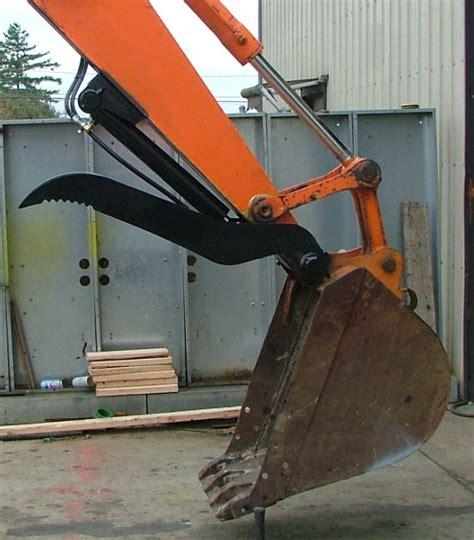 excavator thumb attachments