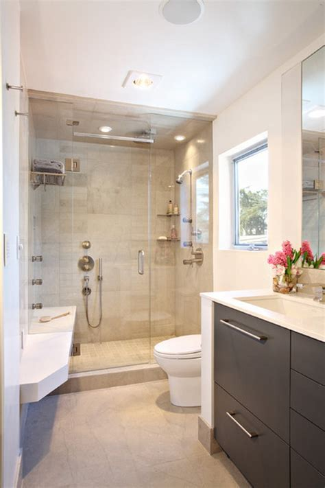 bathroom ideas for small areas contemporary small luxury bathroom design with compact size shower area and dark wood cabinets