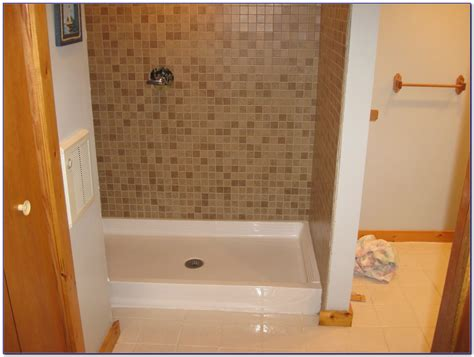 shower pans for tile how to install fiberglass shower pan cookwithalocal home