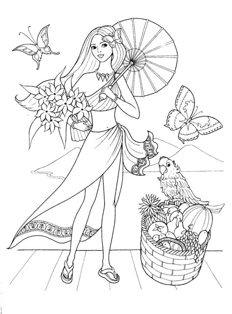coloring pages photo girl colouring pages images good  coloring pages  girls