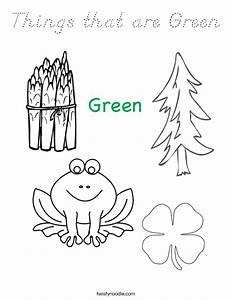 Things That Are Green Coloring Page - D U0026 39 Nealian