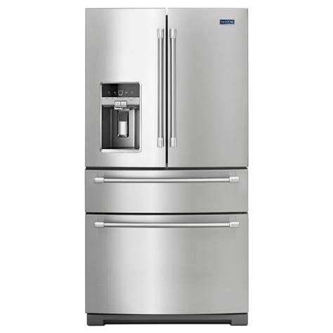 stainless steel door refrigerator shop maytag 26 2 cu ft 4 door door refrigerator