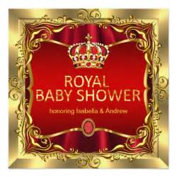 royal princess baby shower ideas royal prince or princess baby shower gold card zazzle