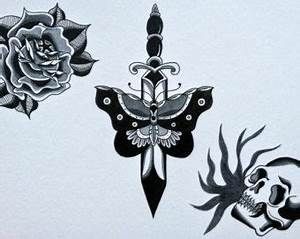 29 best Traditional Butterfly Tattoo Black And Grey images ...