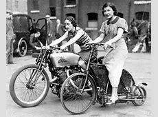 Cool Girls Riding Their Motorbikes Vintage PreWar Photos
