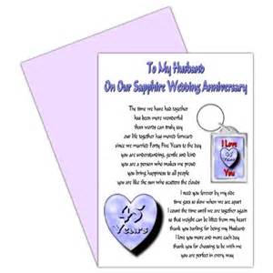 45th wedding anniversary gift buy husband 45th wedding anniversary card with removable keyring gift 45 years our sapphire