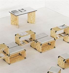 meuble de rangement simple en osb ideal pour les salons With meuble osb