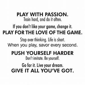 Play With Passion Wall Quotes™ Decal | WallQuotes.com