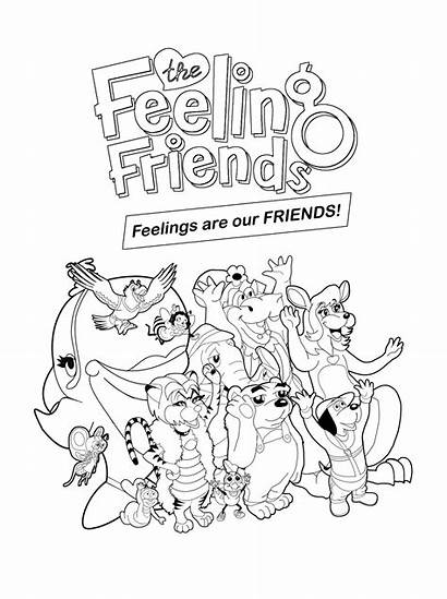 Coloring Pages Feelings Drawing Emotions Feeling Faces