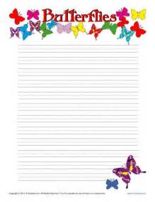 Point Of View Worksheets 3rd Grade Butterfiles Printable Lined Writing Paper