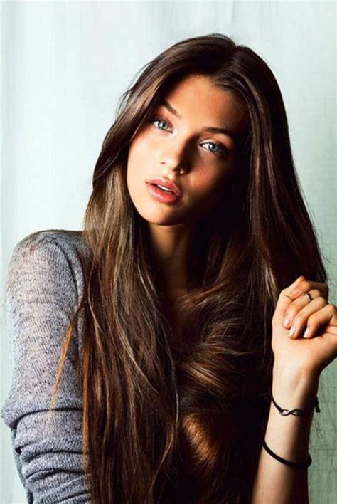 cute hairstyles  long straight hair  side bangs