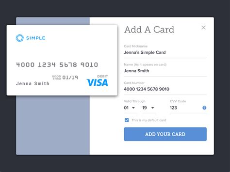 Search for what you need. Daily UI 02 - Credit Card Info by Stewart Hines on Dribbble