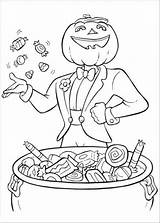 Coloring Pages Halloween Hard Candy Popular sketch template
