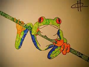 Tree Frog Drawings
