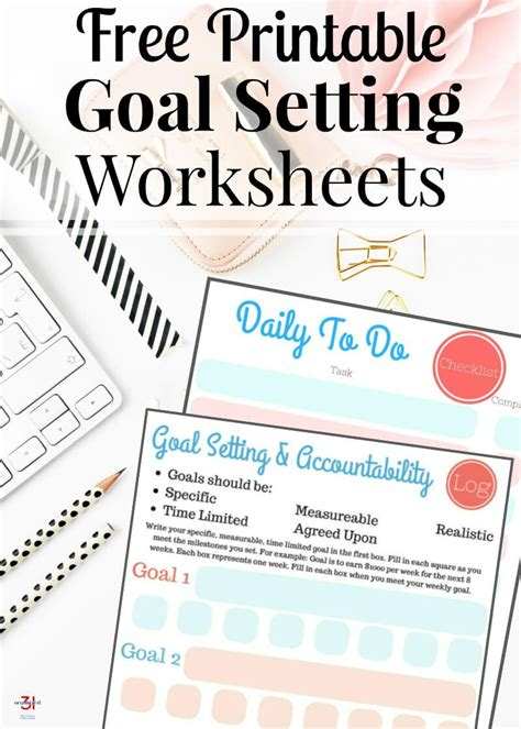 printable goal setting worksheets money saving mom