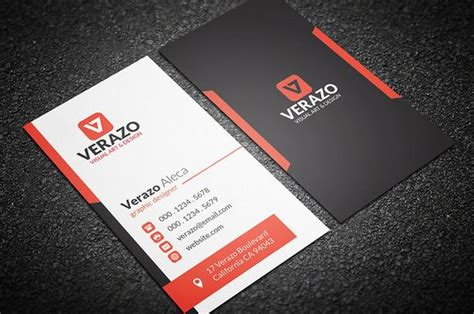 vertical business card design orange vertical business card by verazo on creative market