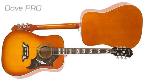 Harga Gitar Epiphone Dove Pro hummingbird the dove and the el 00 acoustic electric pros