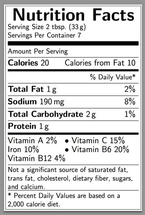diagrams    create  nutrition facts label
