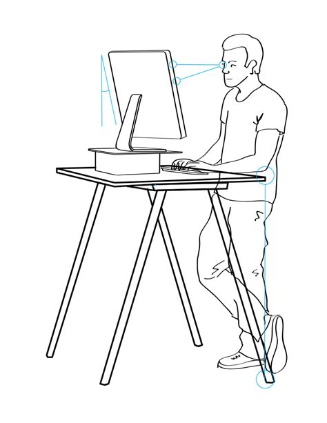 standing desk ergonomics what s better a sit or stand desk healthyspines org