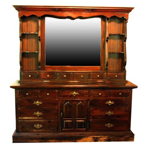 dresser with hutch ethan allen pine dresser hutch with mirror ebth