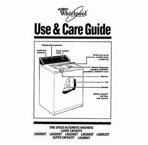 Whirlpool Washer La5380xt User Guide