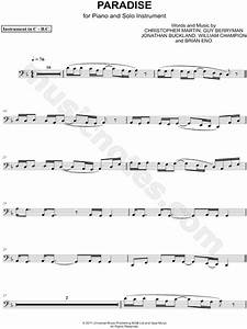 Coldplay QuotParadise Bass Clef Instrumentquot Sheet Music