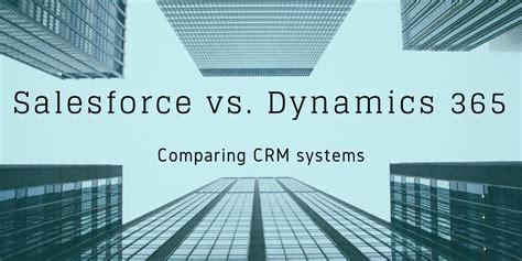 crm comparison salesforce  microsoft dynamics