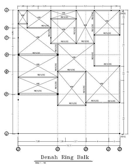 jasa gambar denah rencana ring balk jasa interior  murah