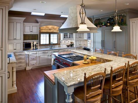kitchen with island layout 5 most popular kitchen layouts hgtv 6523